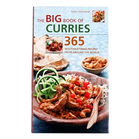 Garaj Kitap The Big Book of Curries: 365 Mouthwatering Recipes from Around the World Renkli